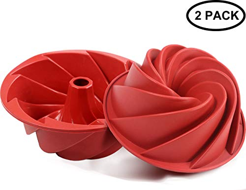 Silicone Bundt Fluted Pan Nonstick Bakeware Cake Molds