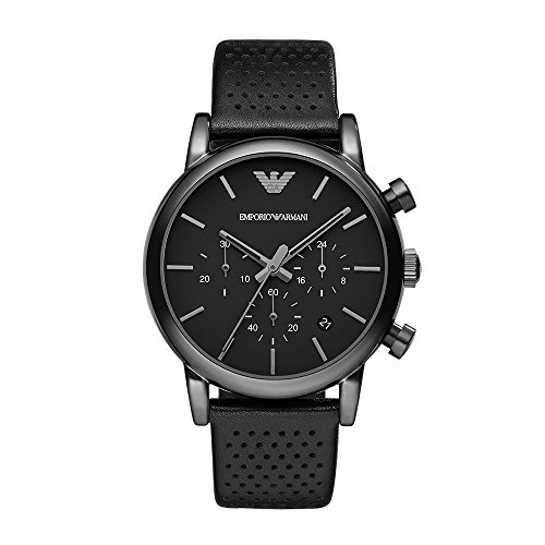 Emporio Armani Men's AR1737 Dress Black Leather Watch ()