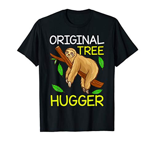 (Tree Hugger Sloth Environmental Climate Change Earth Day T-Shirt)