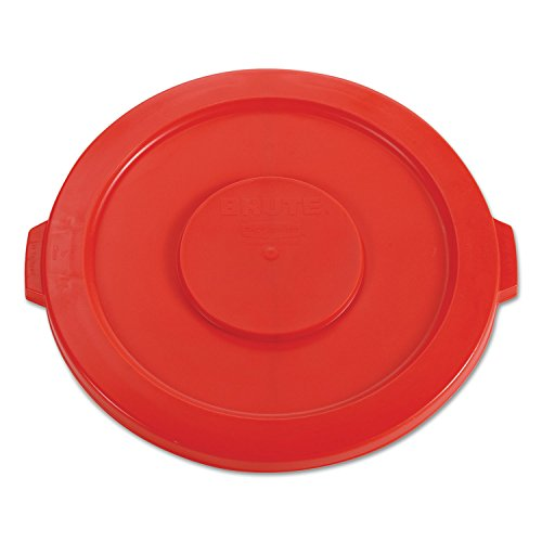 Rubbermaid 2631RED Round Flat Top Lid for 32-Gallon Round Brute Containers 22 1/4-Inch Dia. Red