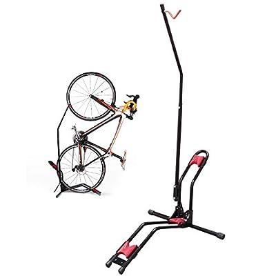 JAPUSOON Bike Rack Upright Bike Storage Stand Adjustable Bicycle Carrier,Front Wheel/Rear Wheel/Vertical Floor Parking Fits Nearly All Bikes