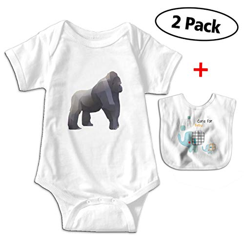 SWEETIE Polygonal Animals Chimpanzee Baby Short Sleeve for sale  Delivered anywhere in Canada