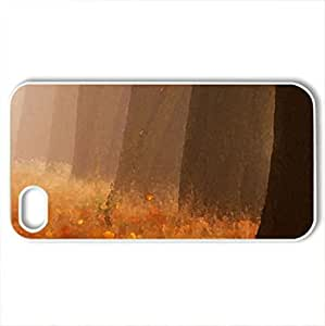 Autumn Forest - Case Cover for iPhone 4 and 4s (Forests Series, Watercolor style, White)
