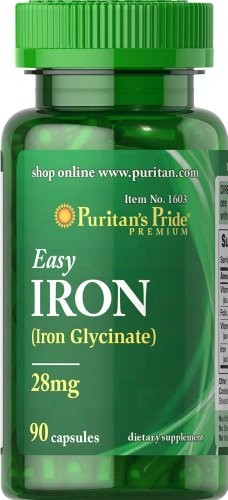 Puritan's Pride Easy Iron 28 mg -90 Capsules