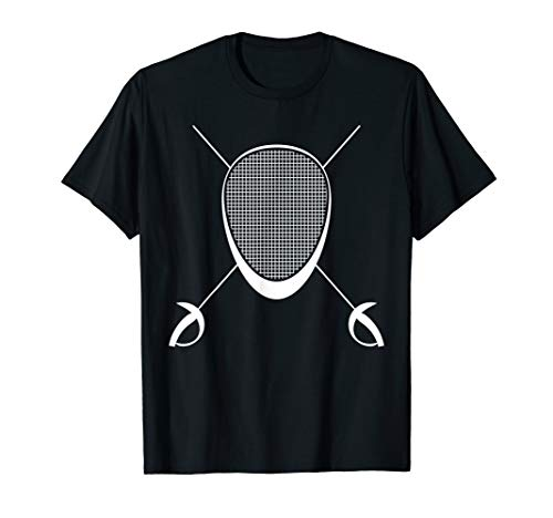 Fencing T-Shirt - Mask and Sword Tee for Fencers