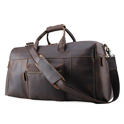 Mens Retro Real Travel Luggage Duffle Gym Bags Gym Sports Weekend Tote Bag by ECOFISH