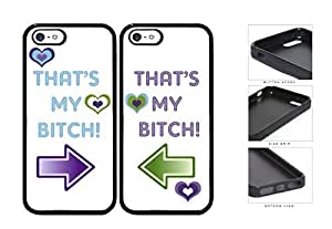 That's My B*tch BFF Set Rubber Silicone TPU Cell Phone Case Apple iPhone 5 5s