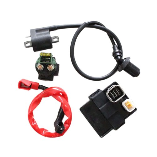 New Pack of Cfmoto 500cc Cf500 Cf Moto 500 Genuine Starter Solenoid Relay with Cable and CDI and Ignition Coil Kits