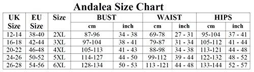 Andalea für Langes SW Mehrfarbig von 46 Damen Übergroße Kleid 56 101 zOqqwxg