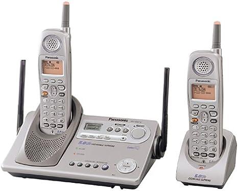 Panasonic KX-TG5212 M Gigarange Supremo 5.8 GHz DSS ampliable teléfono inalámbrico con dos terminales y sistema de contestador: Amazon.es: Electrónica