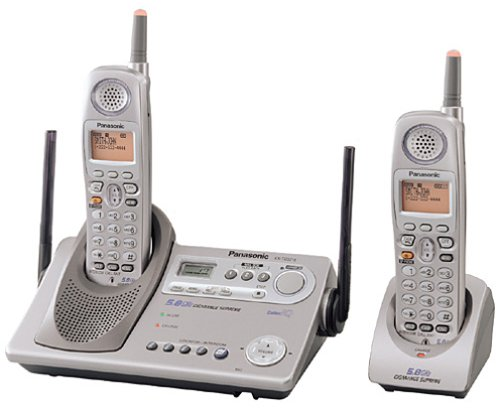 Panasonic KX-TG5212M GigaRange Supreme 5.8 GHz DSS Expandable Cordless Phone with Dual Handsets and Answering System