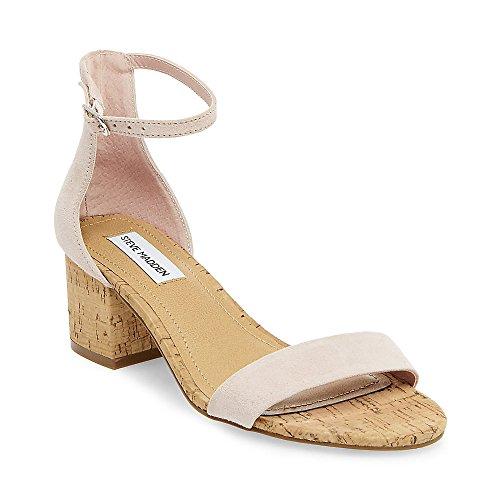 Steve Madden Women's Irenee Pink/Cork Suede Heel Sandal 5.5M