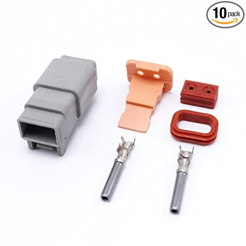 New Brand 10Kits Female 2 Pin Deutsch Waterproof Sealed Auto Connector Plug Sets DT06-2S ZLB
