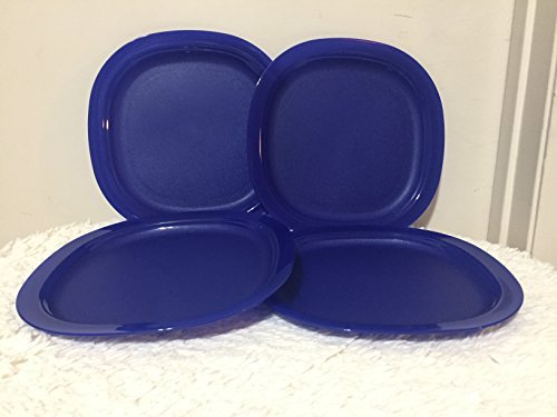 Tupperware Microwave Reheatable Luncheon Plates in Tokyo Blue (SET OF 4)
