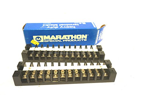 (2 NEW MARATHON 1612 TERMINAL BLOCKS 75A 600V)