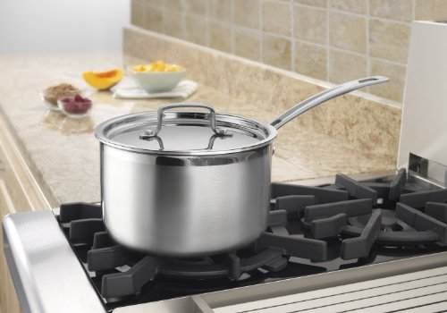 Cuisinart MCP194-20N MultiClad Pro Stainless Steel 4-Quart Saucepan with Cover by Cuisinart (Image #1)