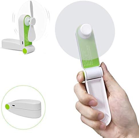 Handheld Mini Fan USB Rechageable Desktop Fan Portable Pocket Fan 2 Speeds Adjustable Personal Fan for Home Office Travel Outdoors