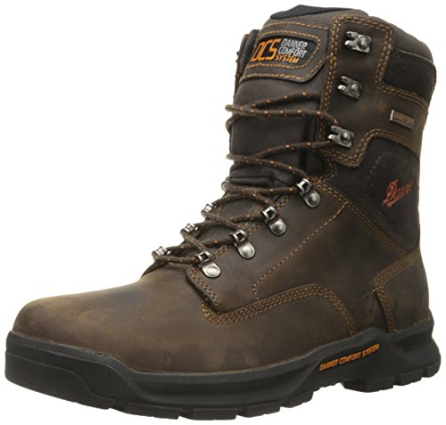 Danner Men's Crafter 8 Inch Plain Toe Work Boot, Brown, 9.5 D US