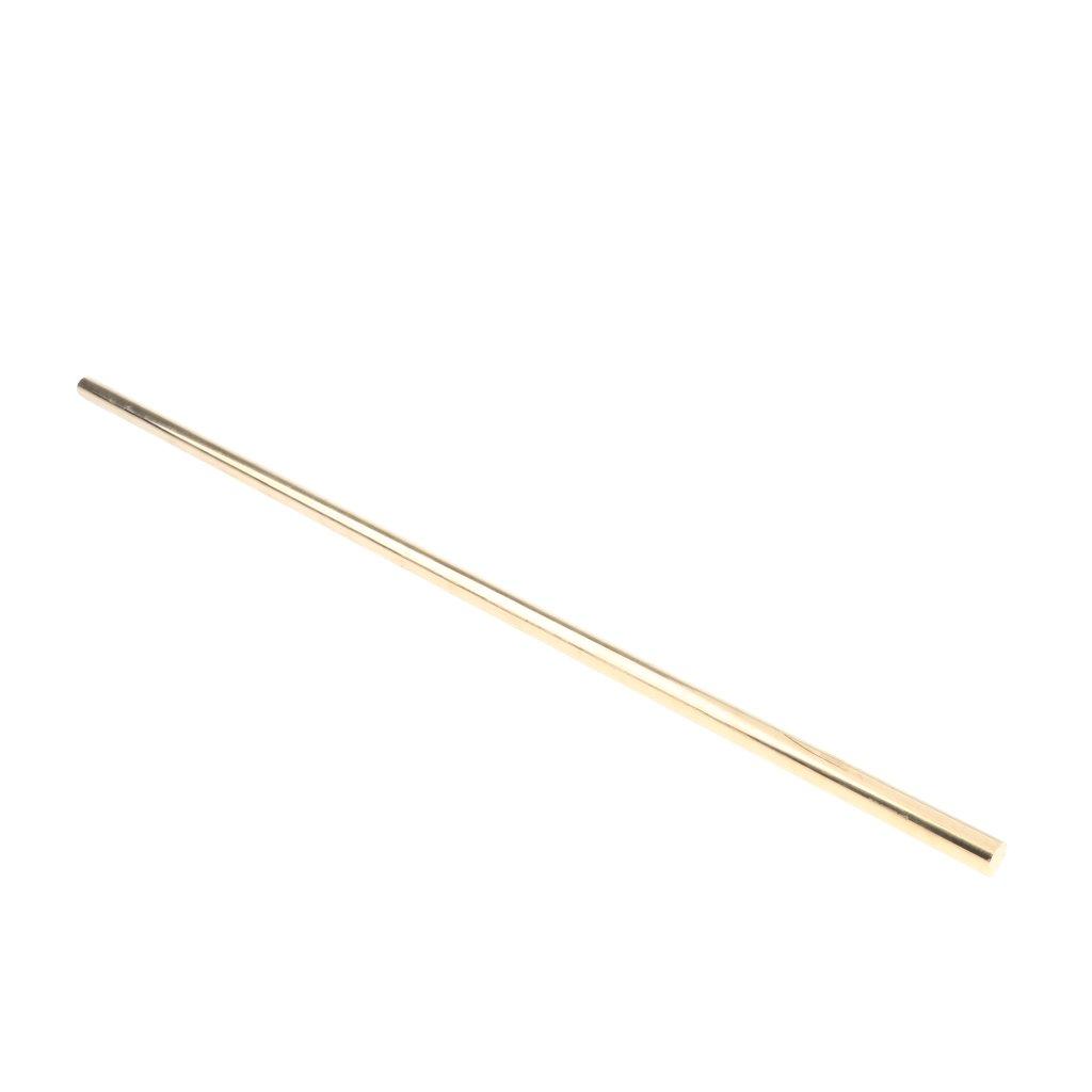 gazechimp Brass Solid Round Rod Lathe Bar Stock, 12mm in Diameter 50cm/20 inch in Length, Brass Metal Raw Materials, Multipurpose by Gazechimp