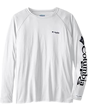 Sportswear Men's Terminal Tackle Long Sleeve Shirt, White/Nightshade Logo, 4X
