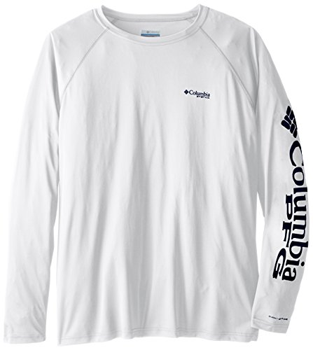 Columbia Men's PFG Terminal Tackle Long Sleeve Tee - Tall, White, Nightshade Logo, ()