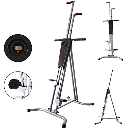 Hansentus Vertical Climber Machine foldable Exercise Stepper / Fitness Climbing Machine for Home Trainer