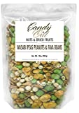 CandyOut Wasabi Snack 2 Pound Broad Beans Peas and Peanuts in Resealable Bag