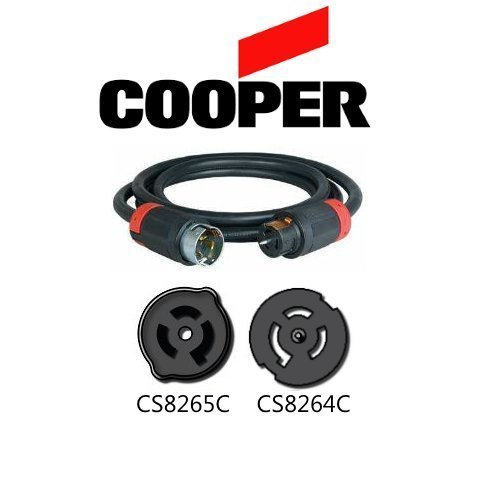 CS8265C to CS8264C Extension Cable - 20 ft, 50A, 250V - Iron Box # IBX-5447-20