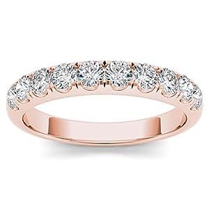 14k Rose Gold 3/4ct TDW Diamond Wedding Band (I J, I2)