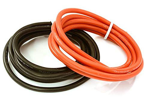 Integy RC Model Hop-ups C28014 Flexible 14 AWG Gauge Silicone Wire 1m Set, 39in Black 39in Red
