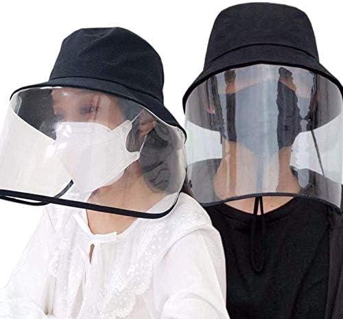 SANMU ハット 漁師帽 無地帽子 つば広ハット コットン 透明タイプ 男女兼用 漁師の帽子 日除け帽子 56~60cm