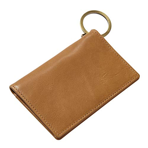 Executive Leather ID/Keychain Wallet (tan)