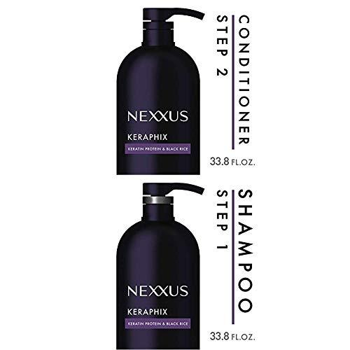 Nexxus Keraphix Conditioner, for Damaged Hair, 33.8 Ounce andNexxus Keraphix Shampoo, for Damaged Hair, 33.8 oz