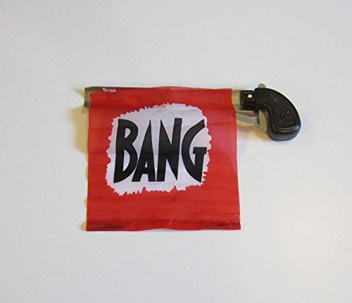 1 NEW BANG GUN PISTOL WITH FLAG COMEDY PROP GUNS GAG GIFT MAGIC ()
