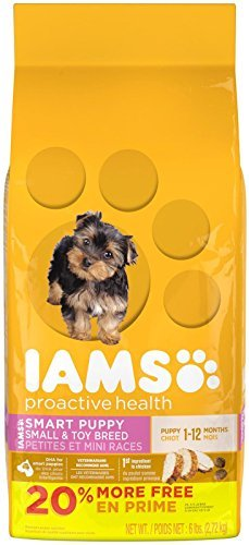 IAMS PROACTIVE HEALTH Smart Puppy Small and Toy Breed Dry Puppy Food 6 Pounds by Iams