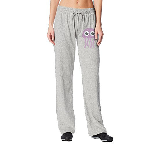 [Kula Cute Jelly Octopus Women Workout Pants Ash XL] (Jelly Bean Costumes For Babies)