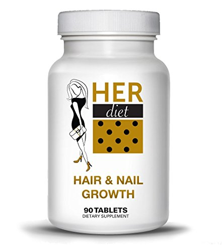 HERdiet Hair and Nail Growth for Women Extra Strength Supplement Boost Speed and Stronger Healthier Hair Prevent Hair Loss Pills ()