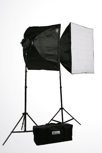 ePhoto 3800 Watt Digital Video Continuous Light 3 Softbox Boom Stand Hair Lighting Kit and Case by ePhotoInc H9060SB4
