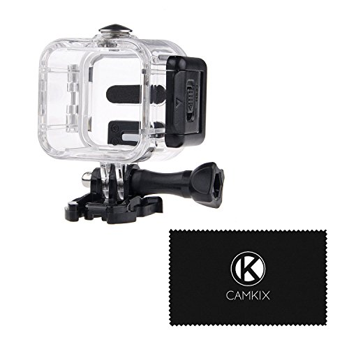 CamKix Replacement Waterproof Housing Compatible with GoPro Hero5 / Hero4 Session Action Camera - for Underwater Use - Water Resistant up to 132ft (40m) - Take Your Camera 4X Deeper