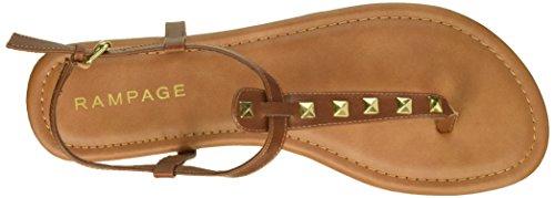 Pashmina Women's Gold Rampage Studs Cognac Sandal Flat p6gWHW5q