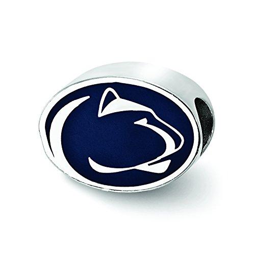 LogoArt Sterling Silver Penn State University Enameled Bead SS500PSU by LogoArt