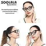 SOOLALA Ladies 52mm Lens Designer Cat Eye Reading