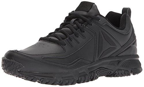 Reebok Men's Ridgerider Leather Sneaker, Black, 8 M US ()