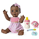 Luvabella Dark Brown Hair, Responsive Baby Doll with Real Expressions and Movement, for Ages 4 and Up