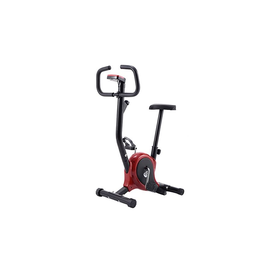 Goplus Upright Bike Exercise Bike Bicycle Exerciser Magnetic Stationary Fitness Cycle Cardio Aerobic Equipment