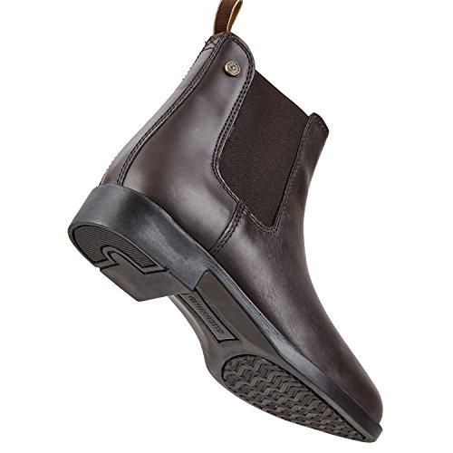 Chelsea Boot jodhpur Classic Comfortabel Enkellaarsje Van Rundleer | Hoefijzer Met Duurzame Rubberen Zool En Leren Binnenzool | Schoen Slip Laarzen In De Maten 29-46 | Kleur: Zwart En Bruin