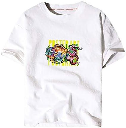 [해외]Litetao Men Round Neck Cotton Linen Shirt Summer Casual Fish Print Short Sleeve Round Neck Funny Tees Tops / Litetao Men Round Neck Cotton Linen Shirt Summer Casual Fish Print Short Sleeve Round Neck Funny Tees Tops