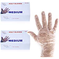 2000 Disposable Food Service Handling and Prep Poly Gloves for Cooking