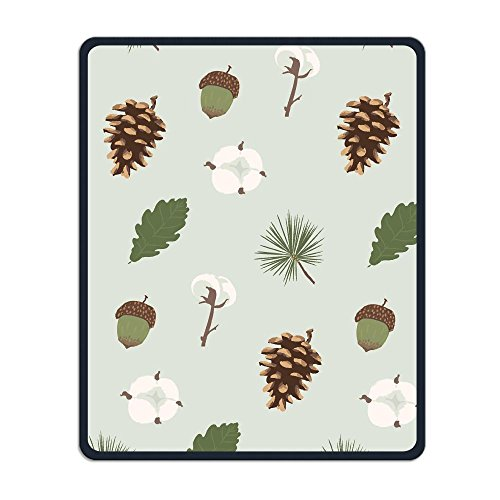 Mouse Pad Galaxy Rectangle Non-Slip Rubber Mousepad Pine Tree Fruit Print Gaming Mouse Pad (Pine Tree Border)