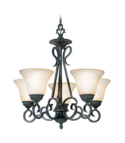 Woodbridge Lighting 12121-TBK Jamestown 5-Light Chandelier, Textured Black